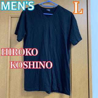 ヒロココシノ(HIROKO KOSHINO)の最終値下げ★HIROKO KOSHINO 半袖Tシャツ 黒ブラック メンズ L(Tシャツ/カットソー(半袖/袖なし))