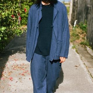 COMOLI - 新品■COMOLI セットアップ フレンチブルー チャイナジャケット パンツ