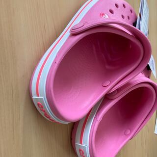 crocs - ラス1  22 ピンク クロックバンド クロックス