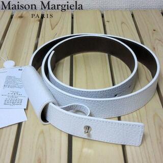 マルタンマルジェラ(Maison Martin Margiela)の試着のみ メゾン マルジェラ メンズ ホワイトレザーベルト 90 M-L(ベルト)