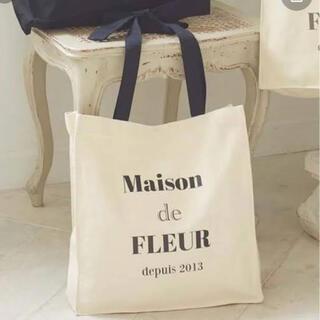 Maison de FLEUR - メゾンドフルール○ルミネ限定○プリントスクエアリボントートバッグ