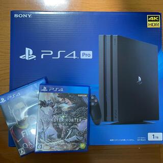PlayStation4 - ps4 pro CUH-7200B B01  Jet Black 1TB
