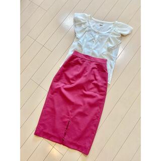 トゥモローランド(TOMORROWLAND)のポケット付き スリットタイトスカート スカート(ひざ丈スカート)