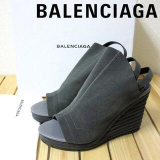 バレンシアガ(Balenciaga)の未使用 バレンシアガ オープントゥ ウェッジソール サンダル シューズ38(サンダル)