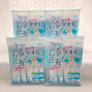 ビオレ(Biore)の⭐️ ビオレ 冷シート 冷タオル 無香性4袋セット 超大判 暑さ対策(制汗/デオドラント剤)