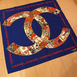 シャネル(CHANEL)のCHANEL スカーフ 大判 美品(バンダナ/スカーフ)