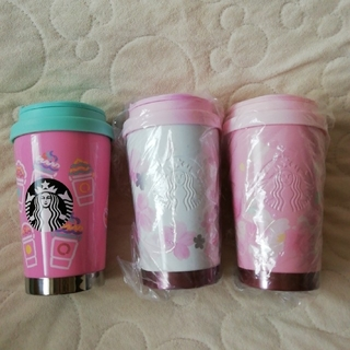 スターバックスコーヒー(Starbucks Coffee)のSTARBUCKS ステンレスTOGOロゴタンブラーセット サクラ フラペチーノ(タンブラー)