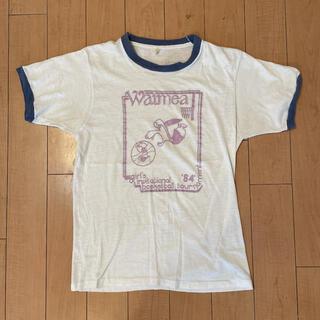 Santa Monica - 超希少 80s ビンテージ USA製 スヌーピー トリム リンガー Tシャツ