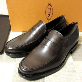 トッズ(TOD'S)の新品 TOD'S イタリア製 レザーローファー 革靴 濃茶 UK6 25cm(スリッポン/モカシン)