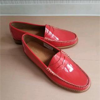 トッズ(TOD'S)の☆新品★G.H.Bass WEEJUNS  赤ローファー ジーエイチバス(ローファー/革靴)