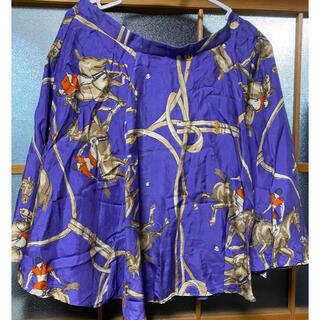 ラルフローレン(Ralph Lauren)の送料込 未使用 高級 ラルフローレン スカート シルク製 絹 正規店購入 (ひざ丈スカート)