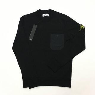 ストーンアイランド(STONE ISLAND)の新品 STONE ISLAND ロゴ ナイロン ポケット ニット セーター(ニット/セーター)
