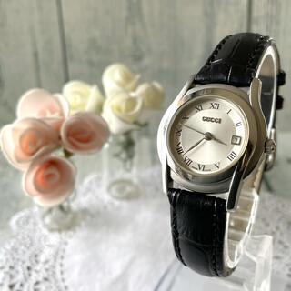 Gucci - 【電池交換済み】GUCCI グッチ 5500L 腕時計 シルバー レディース
