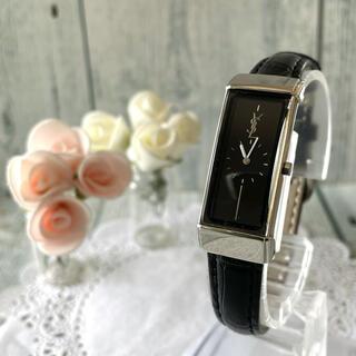 サンローラン(Saint Laurent)の【動作OK】Yves Saint Laurent 腕時計 ブラック レディース(腕時計)