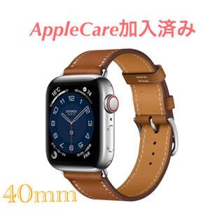 Apple Watch - お得 新品 AppleWatch Hermès シルバーステンレススチールケース