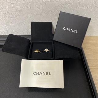 シャネル(CHANEL)の【ヴィンテージ】CHANEL シャネル ココマーク カメリア リング(リング(指輪))