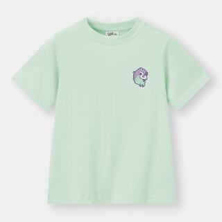 ポケモン(ポケモン)のGU ポケモン ポニータ 刺繍 半袖 Tシャツ 120 キッズ pokemon(Tシャツ/カットソー)