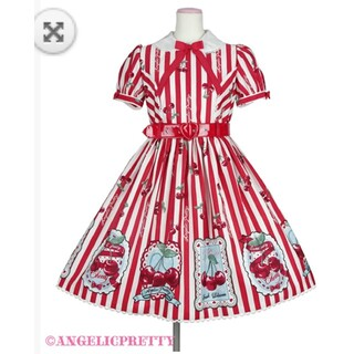 Angelic Pretty - Cherry Stampワンピースアカ