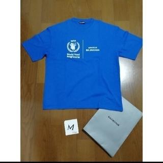 Balenciaga - BALENCIAGA WFP ロゴプリントTシャツM ブルー中古美品