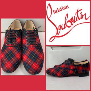 クリスチャンルブタン(Christian Louboutin)のクリスチャンルブタン タータンチェック ローファー(ローファー/革靴)