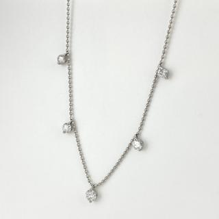 メレダイヤ デザイン ネックレス WG 【中古】