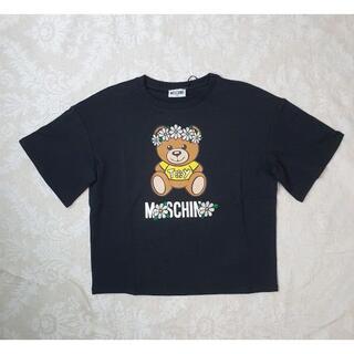 MOSCHINO - 【新品・未使用】MOSCHINO KIDS ロゴTOYフラワーTシャツ 黒12Y