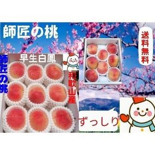 師匠の桃♥和歌山の早生白鳳ずっしり♥巣ごもり農家雪だるまから直送(フルーツ)