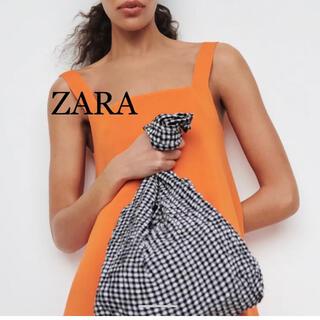 ザラ(ZARA)のZARA ギンガムチェック バッグ エコバッグ(エコバッグ)