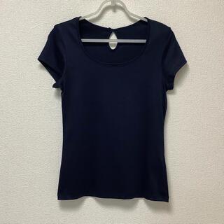 エクリュフィル(ecruefil)のecruefil/新品・未使用 エクリュフィル Tシャツ バックリボン ネイビー(Tシャツ(半袖/袖なし))
