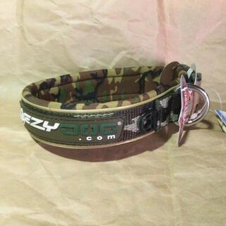 EZYDOG ネオカラー グリーンカモ Mサイズ 犬の首輪(リード/首輪)