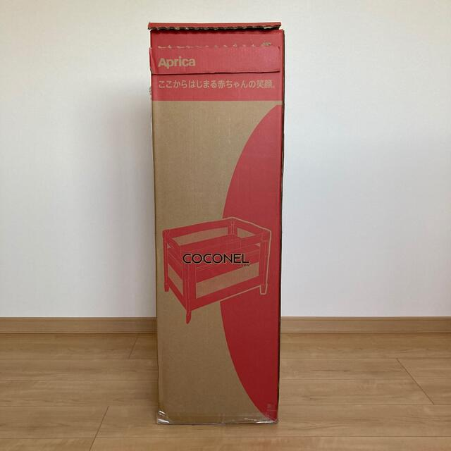 Aprica(アップリカ)のアップリカ ココネルエアー ベビーベッド ココア〈値下げ中〉 キッズ/ベビー/マタニティの寝具/家具(ベビーベッド)の商品写真