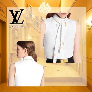 ルイヴィトン(LOUIS VUITTON)のLOUIS VUITTON♡コットンスリーブレスシャツ(シャツ/ブラウス(半袖/袖なし))