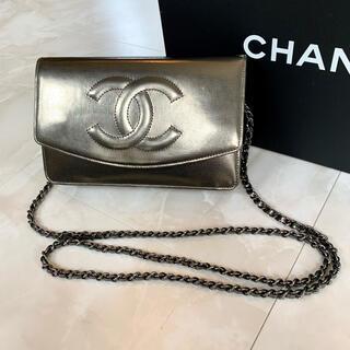CHANEL - 正規品◆美品 CHANEL シャネル チェーンウォレット パテントレザー
