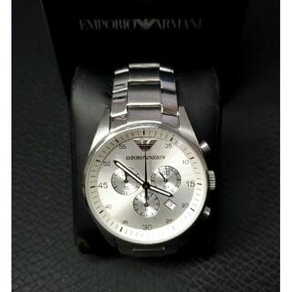 エンポリオアルマーニ(Emporio Armani)の美品 エンポリオ・アルマーニ AR5963 クロノグラフ メンズ腕時計(腕時計(アナログ))