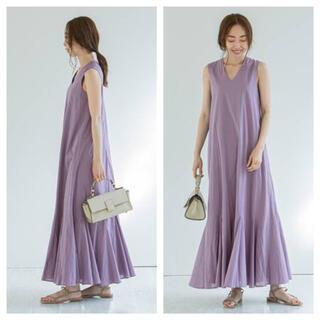 ノーブル(Noble)の【新品タグ付】《追加》【MARIHA】夏の月影のドレス パープル サイズ36(ロングワンピース/マキシワンピース)