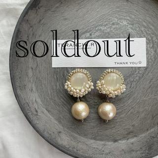 bulle de savon - コットンパール 淡水パール 刺繍 ビーズ刺繍