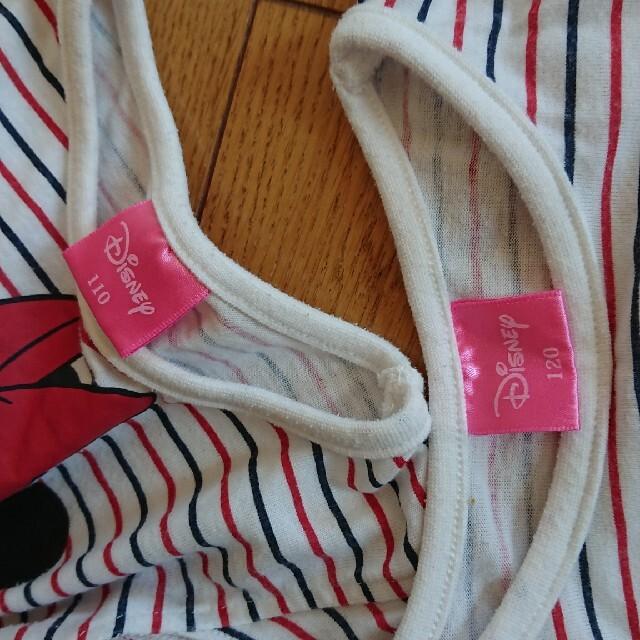 Disney(ディズニー)のミニーちゃんワンピース110-120 キッズ/ベビー/マタニティのキッズ服女の子用(90cm~)(ワンピース)の商品写真