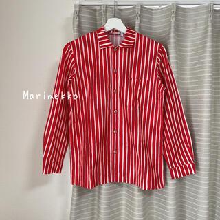 マリメッコ(marimekko)のMarimekko ストライプシャツ 152-158(シャツ/ブラウス(長袖/七分))