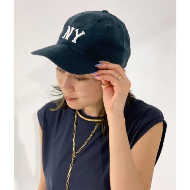DEUXIEME CLASSE(ドゥーズィエムクラス)の新品 COOPERSTOWN クーパーズタウン NY corduroy キャップ レディースの帽子(キャップ)の商品写真
