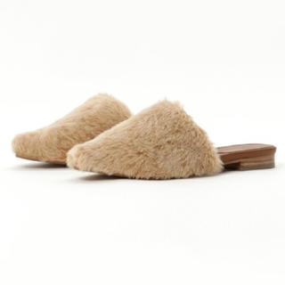 イエナスローブ(IENA SLOBE)のスローブイエナ SLOBE IENA 今季 新作 ファー サンダル スリッパ 靴(スリッポン/モカシン)