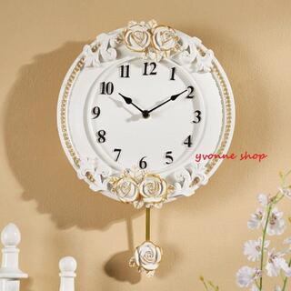 クロック。壁掛け時計 かけ時計 レア 振り子時計 振子時計 姫系雑貨(掛時計/柱時計)