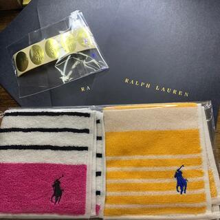 ラルフローレン(Ralph Lauren)のラルフローレン タオルハンカチ 2枚 新品(ハンカチ)