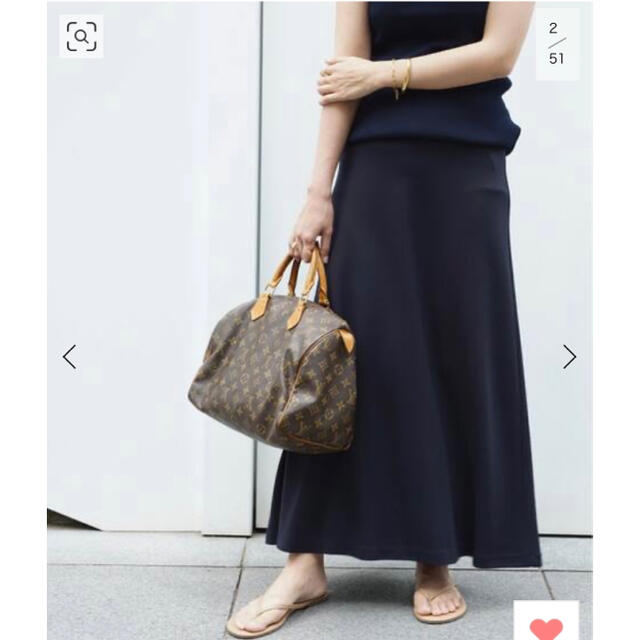 DEUXIEME CLASSE(ドゥーズィエムクラス)のDeuxieme Classe Jersey フレアスカートネイビー 新品 レディースのスカート(ロングスカート)の商品写真