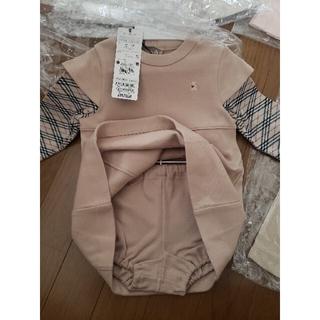 BURBERRY - BURBERRY ベビー服 プリーツスカート ジャンパースカート ベアワンピース