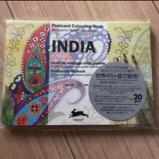 新品 ペピン ポストカードカラーリングブック INDIA 大人の塗り絵 ぬりえ(スケッチブック/用紙)
