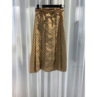 Gucci - GUCCI◆グッチ◆GGリネン キャンバス プリーツスカート
