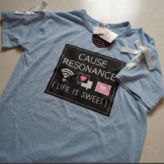 しまむら - 140 Tシャツ 半袖 カットソー ワンピース ロング しまむら ショルダーカッ