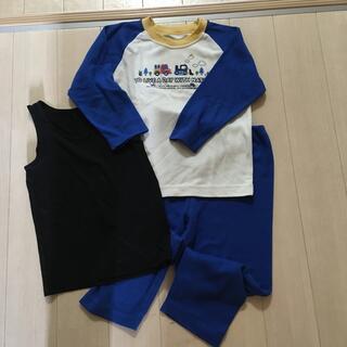 ニシマツヤ(西松屋)の男児 長袖パジャマ 110(おまけ付き)(パジャマ)