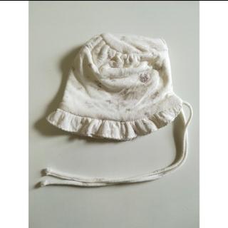 セレク(CELEC)のセレク ベビー 帽子 新生児 白 小花柄(帽子)