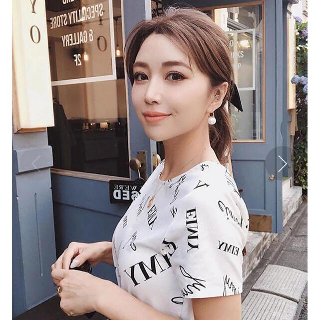 eimy istoire(エイミーイストワール)のeimy istoire randomly eimy プリントTシャツ レディースのトップス(Tシャツ(半袖/袖なし))の商品写真